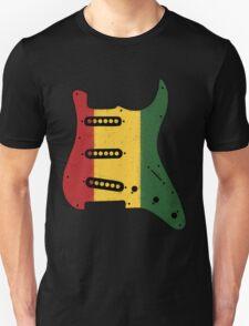 Reggae Rasta Guitar Pickguard  Unisex T-Shirt