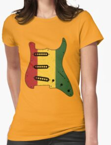 Reggae Rasta Guitar Pickguard  Womens Fitted T-Shirt