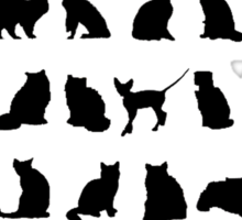 Cats x40 Sticker