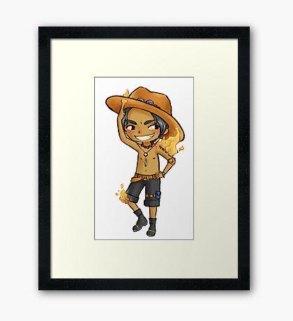 Firefist Ace Framed Print