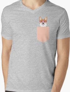 Corgi Love - Welsh Corgi funny nerd art dog lover gifts for pet owners customizable dog gifts Mens V-Neck T-Shirt