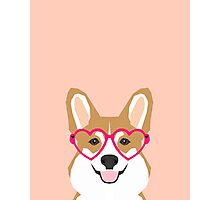 Corgi Love - Welsh Corgi funny nerd art dog lover gifts for pet owners customizable dog gifts Photographic Print