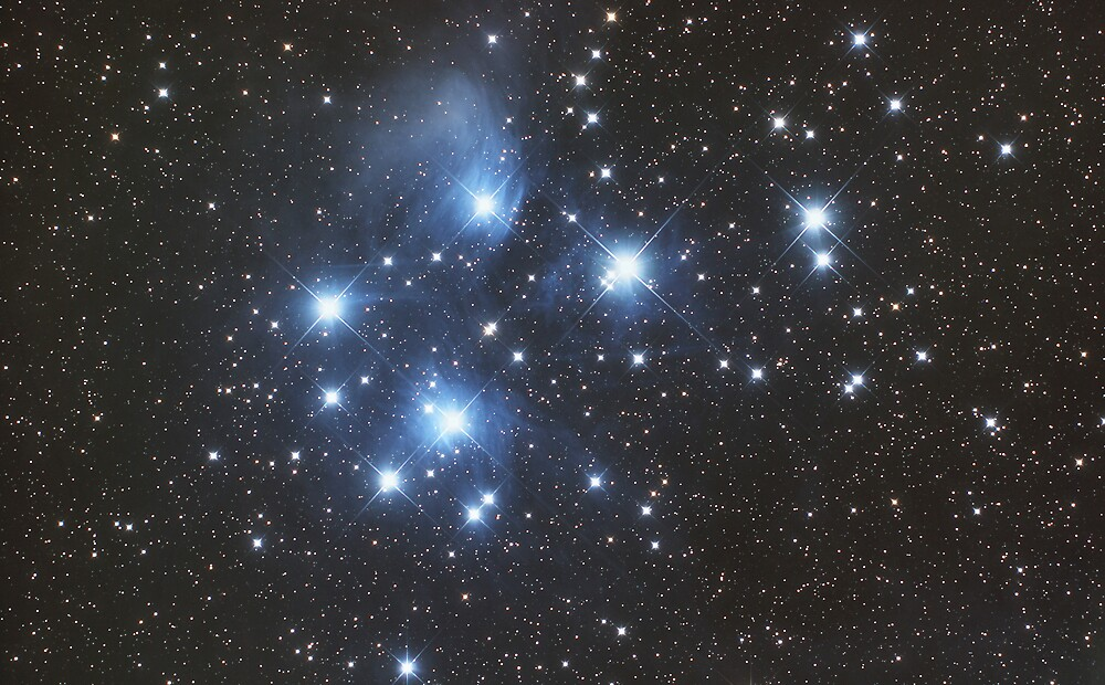 Pleiades Star Cluster by Phil Hart