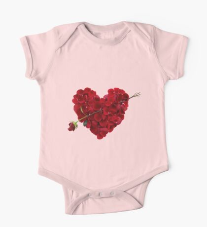 Heart of roses One Piece - Short Sleeve