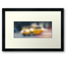 New York Cab Framed Print