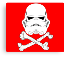 StormTrooper dead bones.  Canvas Print
