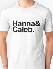 Hanna & Caleb - black text Unisex T-Shirt