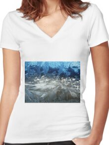 Icy Window Women's Fitted V-Neck T-Shirt
