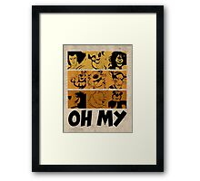 Lions & Tiger & Bears Framed Print