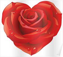 Heart - rose Poster