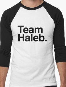 Team Haleb - black text Men's Baseball ¾ T-Shirt