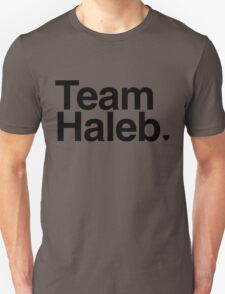 Team Haleb - black text Unisex T-Shirt