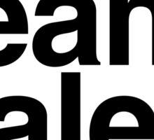 Team Haleb - black text Sticker