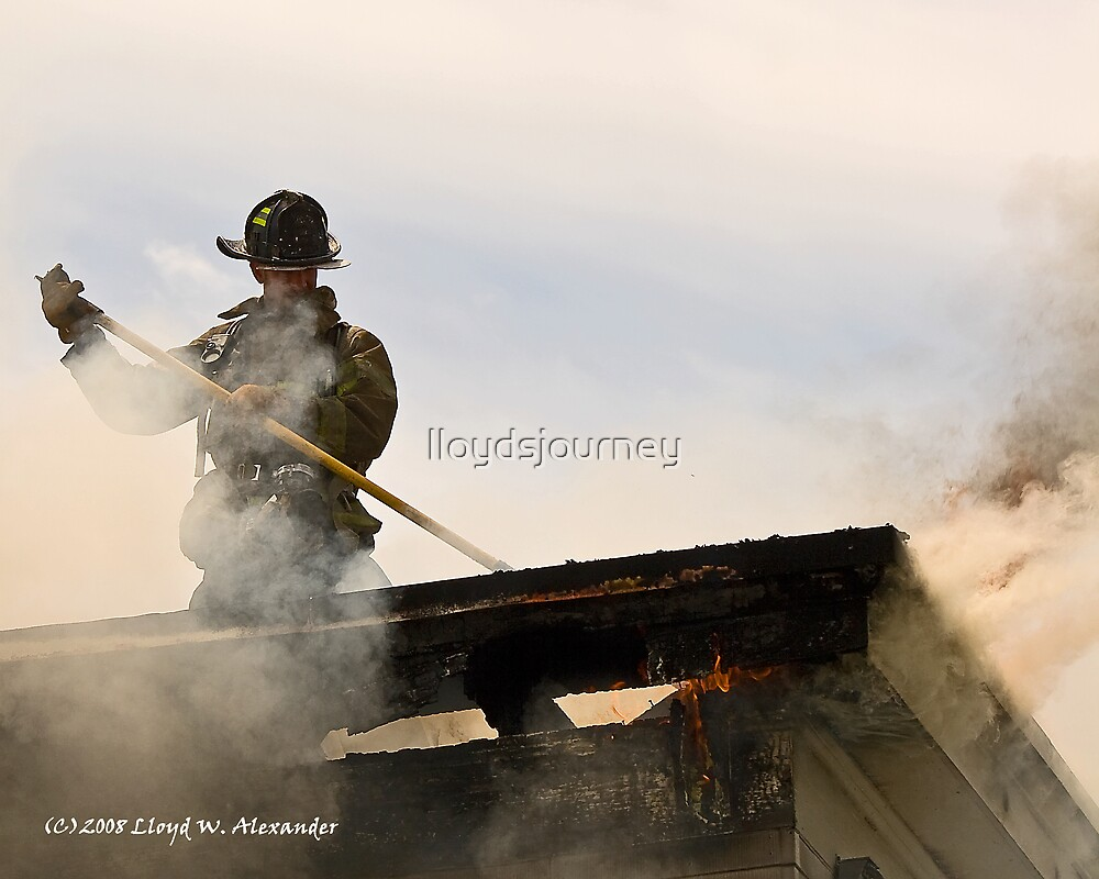 Fire: Working the roof by lloydsjourney
