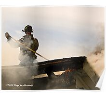 Fire: Working the roof Poster