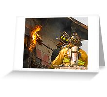 fire: Touching the flame Greeting Card