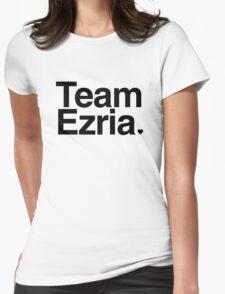 Team Ezria - black text Womens Fitted T-Shirt