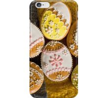 Easter Eggs, Gingerbread Cookies - Yellow Pink  iPhone Case/Skin