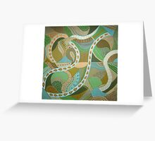 Celadon patterns Greeting Card
