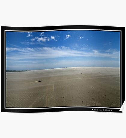 Ocracoke's North end Beach Poster