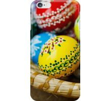 Painted Easter Eggs, Basket - Red Green Yellow  iPhone Case/Skin