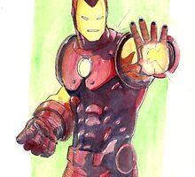 Old School Iron Man by Adrian Philip  Miciano