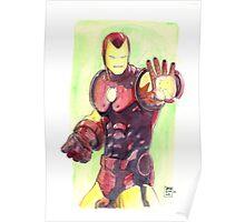 Old School Iron Man Poster