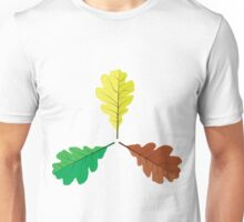 Three oak leaves Unisex T-Shirt