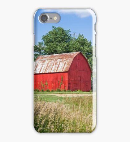 Brilliant Red Barn iPhone Case/Skin