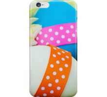 Painted Easter Eggs, Ribbons, Dots, Flowers iPhone Case/Skin