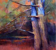 OLD NEIGHBORS ( TREE ) from original pastel painting by Madeleine Kelly by Madeleine Kelly