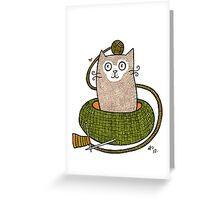 Knit One Purrl One Greeting Card