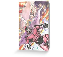 Magneto Master of Magnetism Greeting Card