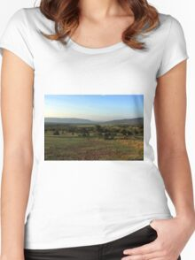 African Savanna  Women's Fitted Scoop T-Shirt