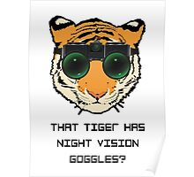 THAT TIGER HAS NIGHT VISION GOGGLES? - The Interview Poster