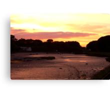 Fremington Creek Sunset Canvas Print