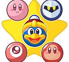 Kirby & Friends by Jaime Ugarte
