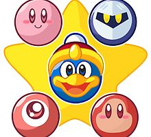 Kirby & Friends by Jaime Ugarte