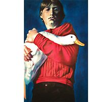 The Boy with the Bird Photographic Print