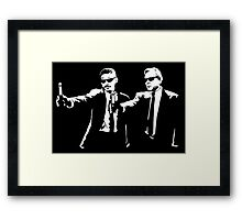 Men In Fiction Framed Print