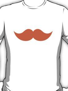 Ginger Orange Mustache T-Shirt