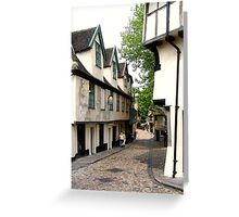 Off Elm Hill, Norwich  Greeting Card