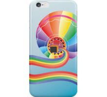 Air balloon with rainbow 2 iPhone Case/Skin