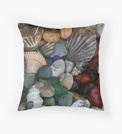 beach rocks # 2 Throw Pillow