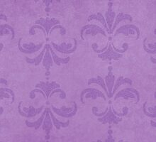 French Damask, Ornaments, Swirls - Purple  by sitnica