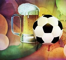 Beer Glass and Soccer Ball by AnnArtshock