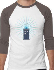 Tardis - Circular Light Effect Men's Baseball ¾ T-Shirt