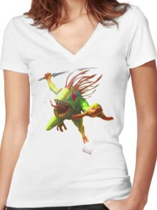 Murloc Tide Hunter  Women's Fitted V-Neck T-Shirt
