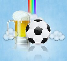 Beer Glass and Soccer Ball 2 by AnnArtshock