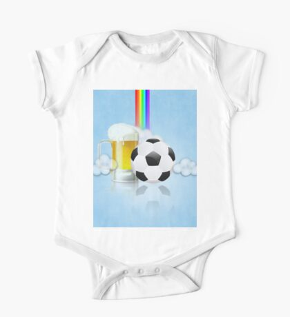 Beer Glass and Soccer Ball 2 One Piece - Short Sleeve